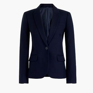 J. Crew Cotton Work Blazer in Navy Size 10